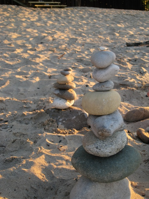 Rock Cairn Couple