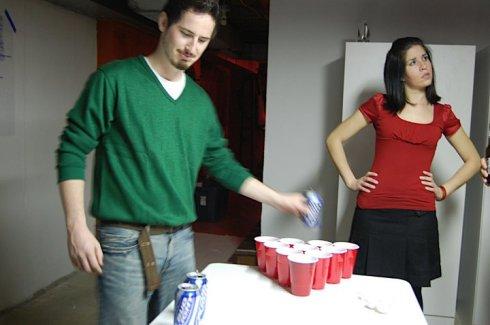 Beer Pong Set-up